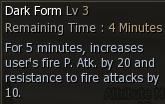 Dark Form Attribute Effect