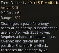 Force Blaster Attribute